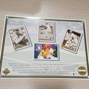 1992 Upper deck Limited Edition collectors sheet
